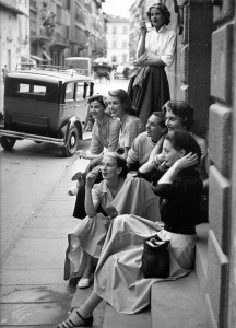 Fashion models working for Simonetta in Florence, Italy - August 1951 - Photo by Milton Greene